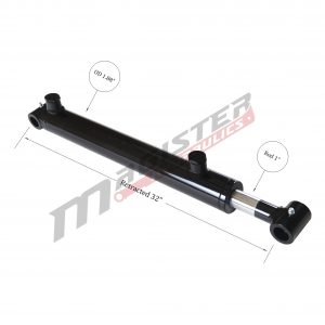 1.5 bore x 24 stroke hydraulic cylinder, welded cross tube double acting cylinder | Magister Hydraulics