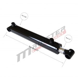 2.5 bore x 24 stroke hydraulic cylinder, welded cross tube double acting cylinder | Magister Hydraulics