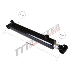 2.5 bore x 8 stroke hydraulic cylinder, welded cross tube double acting cylinder | Magister Hydraulics