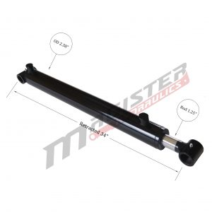 2 bore x 26 stroke hydraulic cylinder, welded cross tube double acting cylinder | Magister Hydraulics