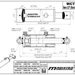 3.5 bore x 4 stroke hydraulic cylinder, welded cross tube double acting cylinder   Magister Hydraulics