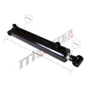 3 bore x 40 stroke hydraulic cylinder, welded cross tube double acting cylinder | Magister Hydraulics