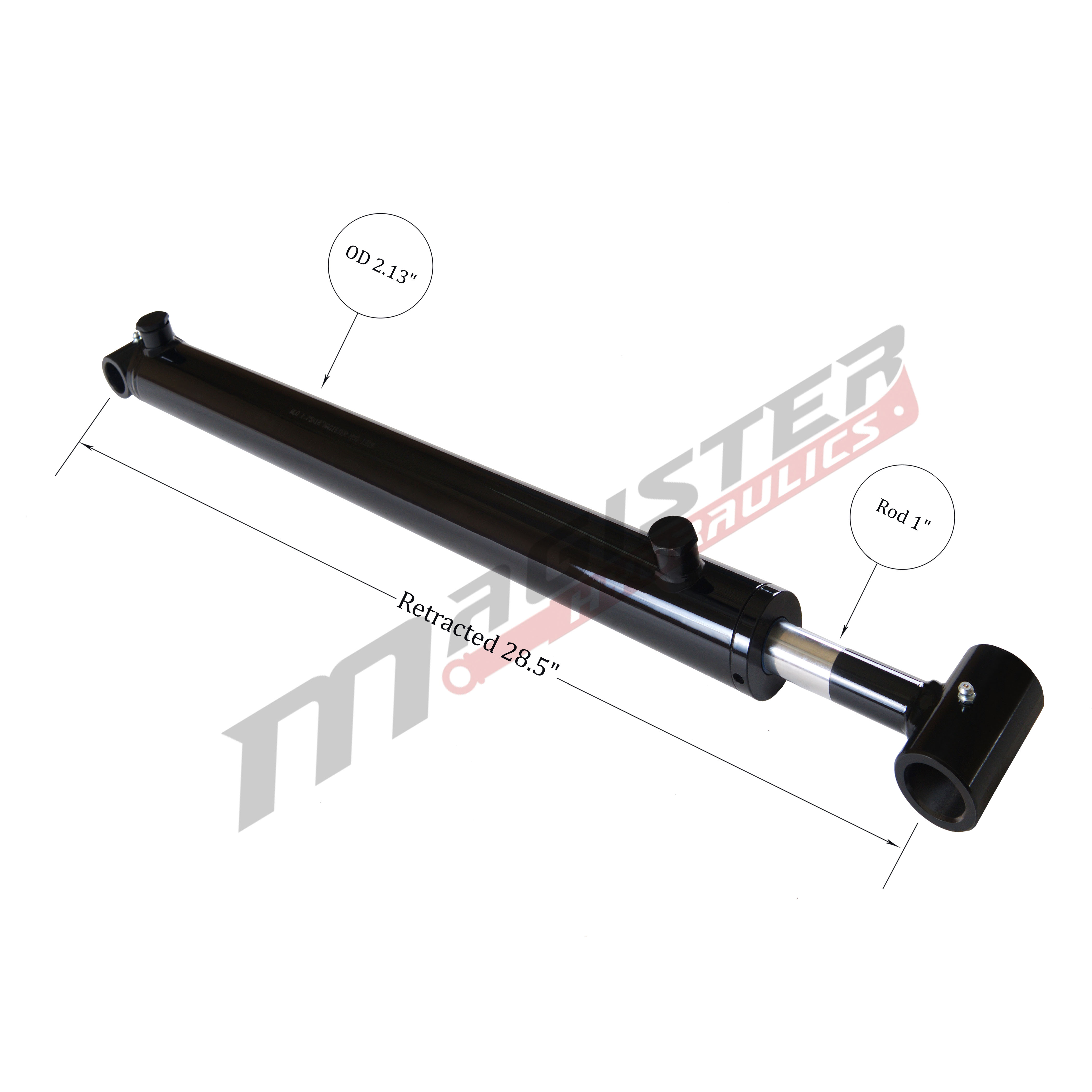 1.75 bore x 14 stroke hydraulic cylinder, welded loader double acting cylinder | Magister Hydraulics