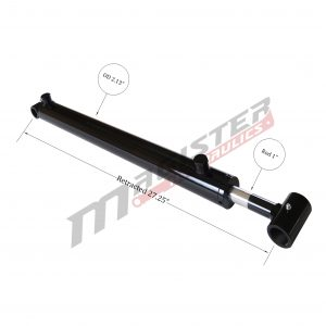 1.75 bore x 18 stroke hydraulic cylinder, welded loader double acting cylinder | Magister Hydraulics