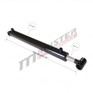 2.5 bore x 18.25 stroke hydraulic cylinder, welded loader double acting cylinder | Magister Hydraulics