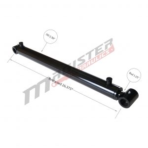 2 bore x 19.75 stroke hydraulic cylinder, welded loader double acting cylinder | Magister Hydraulics