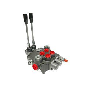 2 spool x 21 GPM hydraulic control valve, monoblock cast iron valve | Magister Hydraulics