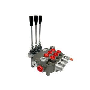 3 spool x 21 GPM hydraulic control valve, monoblock cast iron valve | Magister Hydraulics