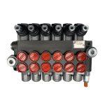 6 spool x 13 GPM hydraulic control valve, monoblock cast iron valve | Magister Hydraulics