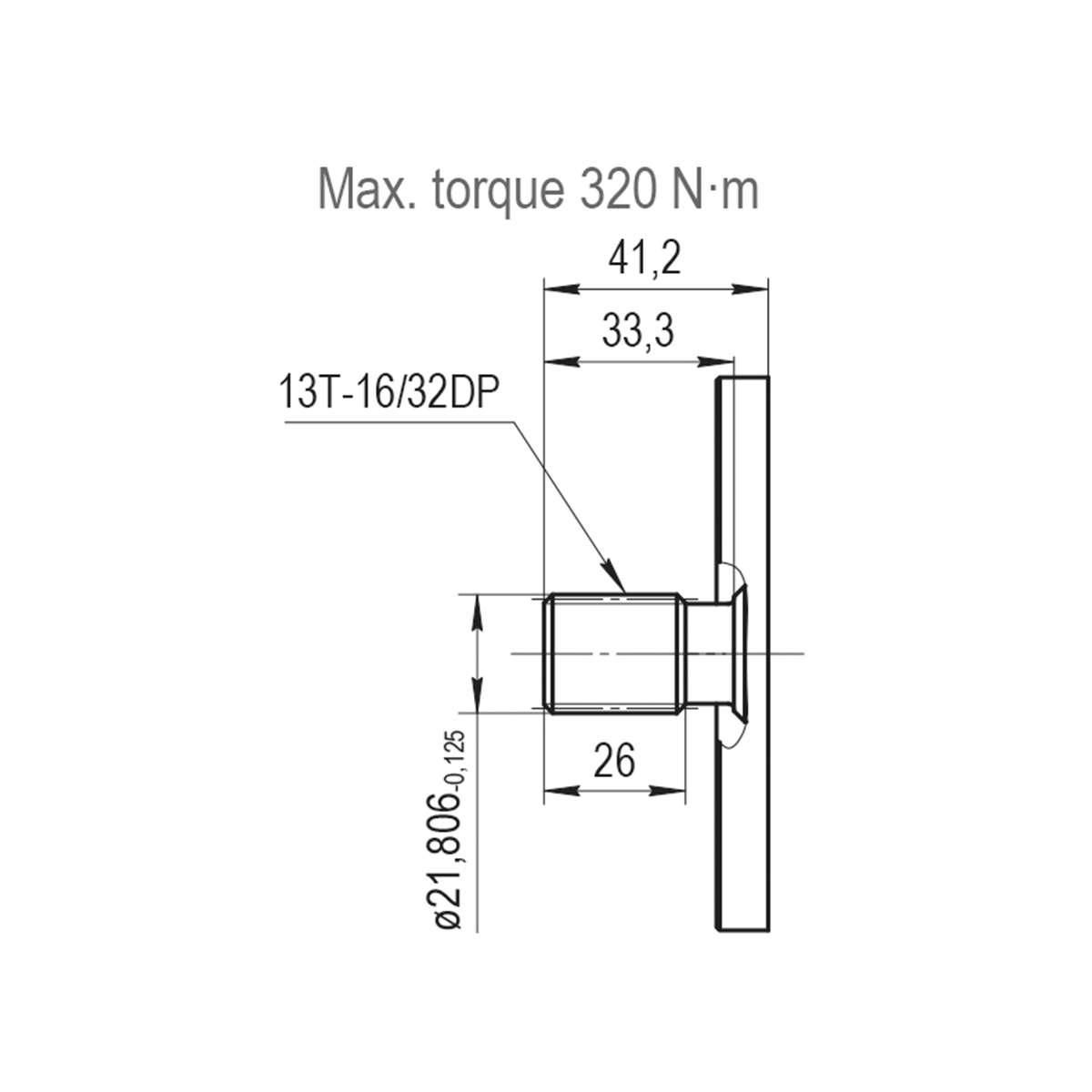 2.32 CID hydraulic gear pump, 13 tooth spline shaft counter-clockwise gear pump | Magister Hydraulics