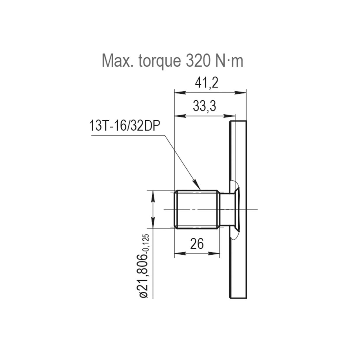 1.52 CID hydraulic gear pump, 13 tooth spline shaft clockwise gear pump   Magister Hydraulics