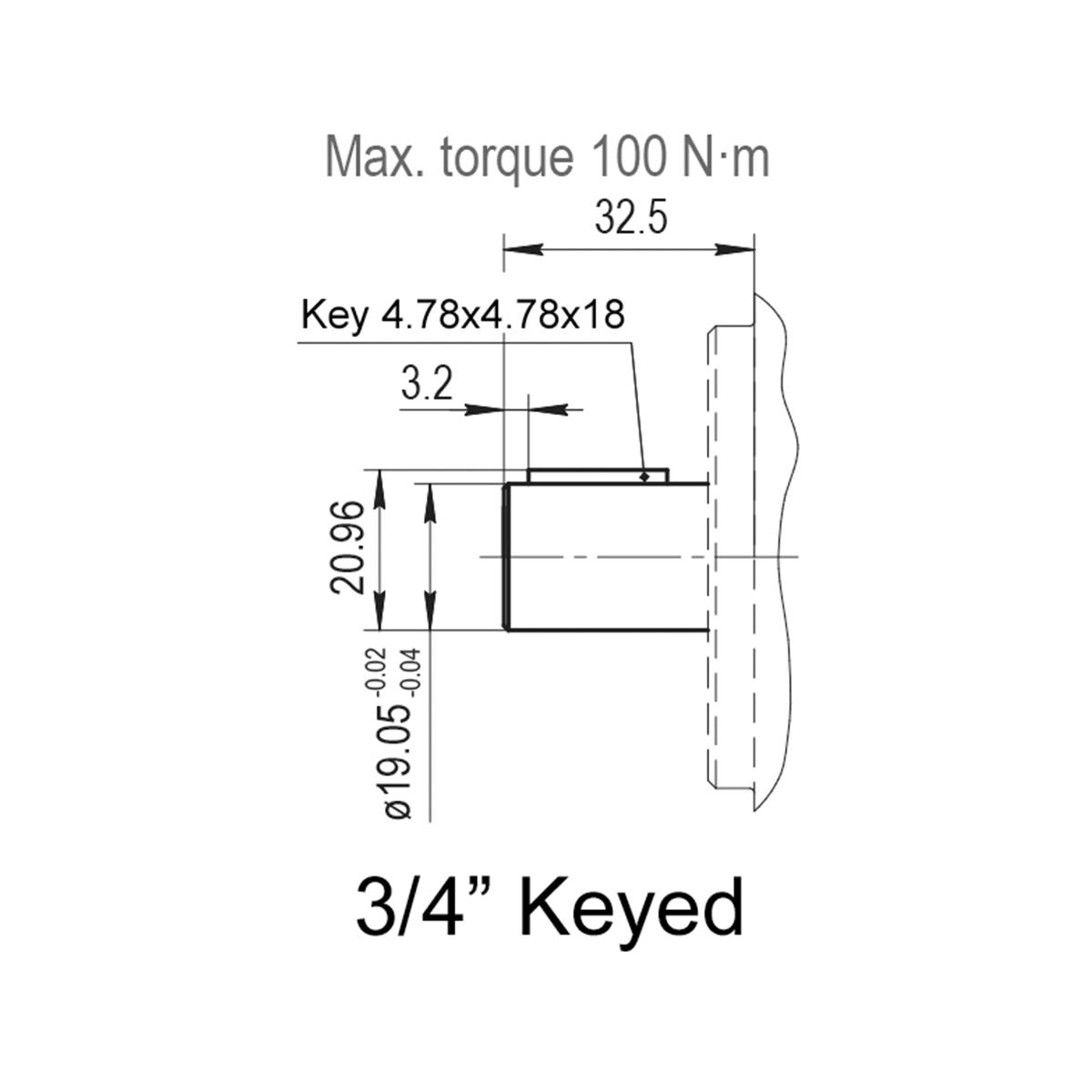 1.22 CID hydraulic gear pump, 3/4 keyed shaft clockwise gear pump | Magister Hydraulics