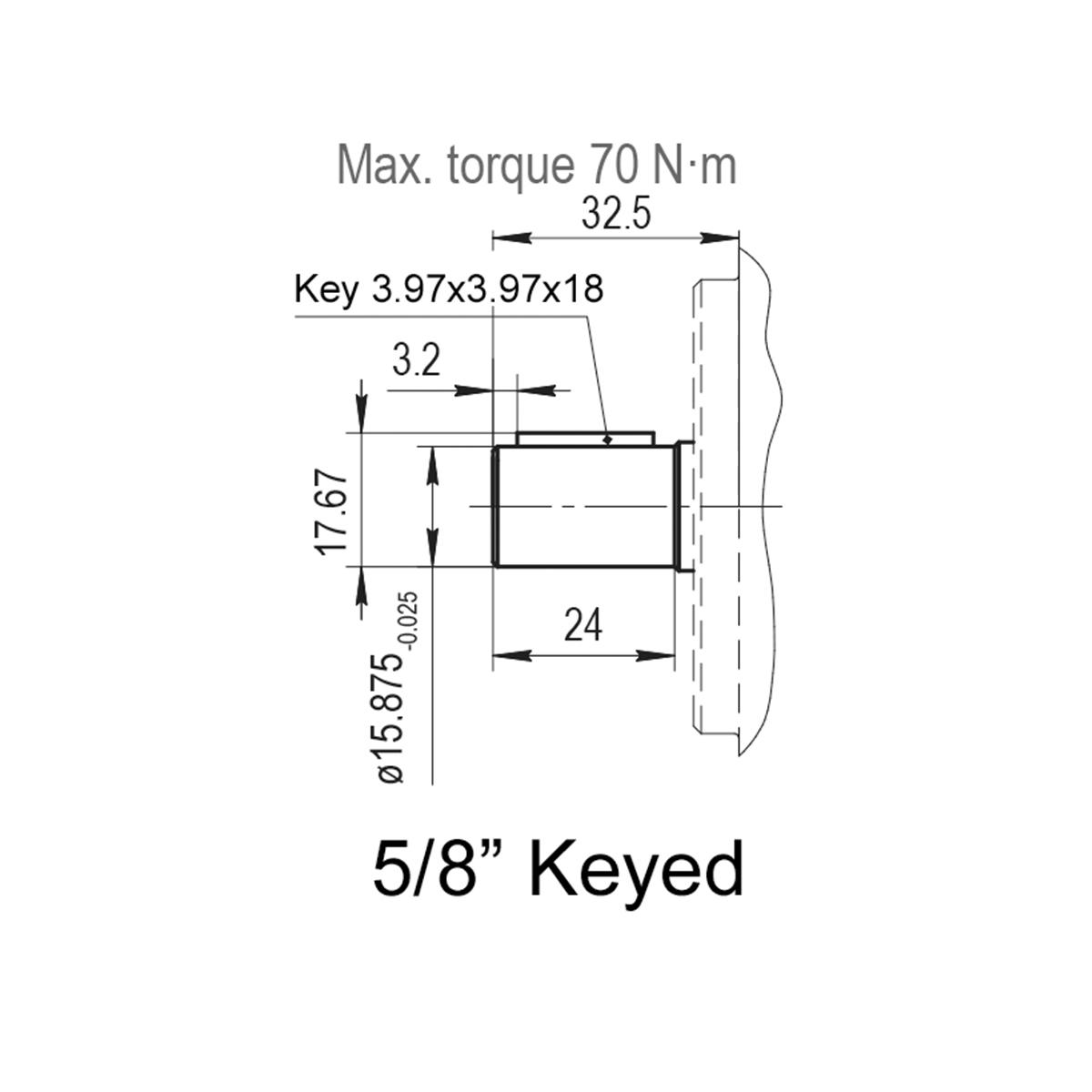 0.61 CID hydraulic gear pump, 5/8 keyed shaft clockwise gear pump | Magister Hydraulics