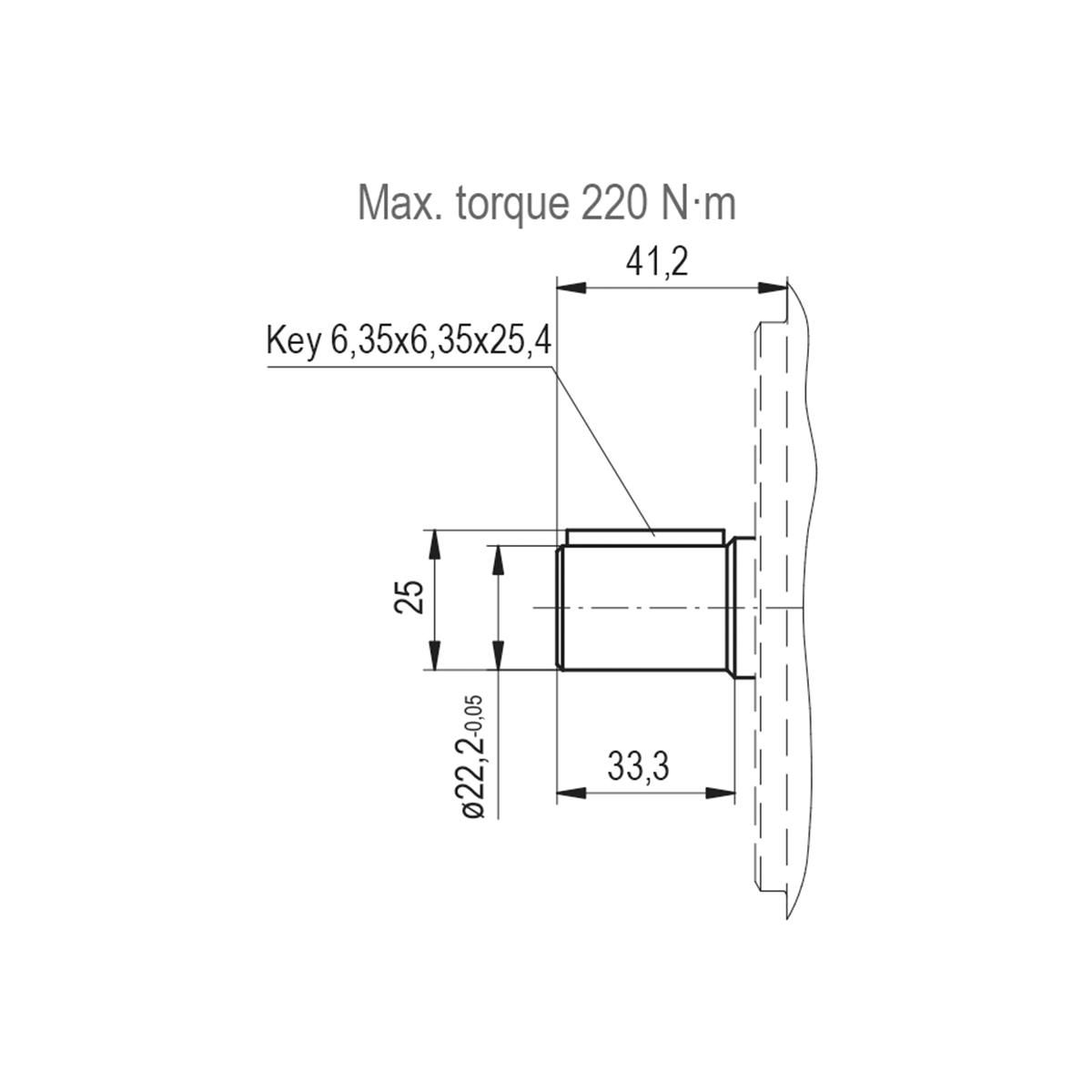 2.32 CID hydraulic gear pump, 7/8 keyed shaft counter-clockwise gear pump   Magister Hydraulics
