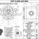 0.69 CID hydraulic gear pump, 9 tooth spline shaft counter-clockwise gear pump   Magister Hydraulics