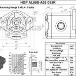 0.85 CID hydraulic gear pump, 9 tooth spline shaft clockwise gear pump | Magister Hydraulics