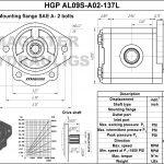 1.37 CID hydraulic gear pump, 9 tooth spline shaft counter-clockwise gear pump | Magister Hydraulics