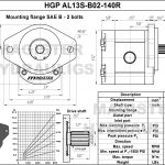 1.40 CID hydraulic gear pump, 13 tooth spline shaft clockwise gear pump | Magister Hydraulics