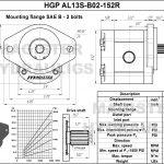 1.52 CID hydraulic gear pump, 13 tooth spline shaft clockwise gear pump | Magister Hydraulics