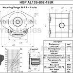 1.95 CID hydraulic gear pump, 13 tooth spline shaft clockwise gear pump | Magister Hydraulics