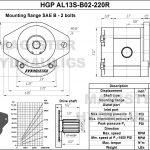 2.20 CID hydraulic gear pump, 13 tooth spline shaft clockwise gear pump | Magister Hydraulics