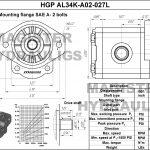 0.27 CID hydraulic gear pump, 3/4 keyed shaft counter-clockwise gear pump | Magister Hydraulics