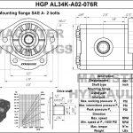 0.76 CID hydraulic gear pump, 3/4 keyed shaft clockwise gear pump | Magister Hydraulics