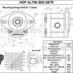 0.97 CID hydraulic gear pump, 7/8 keyed shaft clockwise gear pump | Magister Hydraulics
