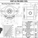 1.52 CID hydraulic gear pump, 7/8 keyed shaft counter-clockwise gear pump | Magister Hydraulics