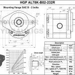 2.32 CID hydraulic gear pump, 7/8 keyed shaft clockwise gear pump | Magister Hydraulics