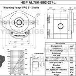 2.74 CID hydraulic gear pump, 7/8 keyed shaft counter-clockwise gear pump | Magister Hydraulics