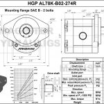 2.74 CID hydraulic gear pump, 7/8 keyed shaft clockwise gear pump   Magister Hydraulics