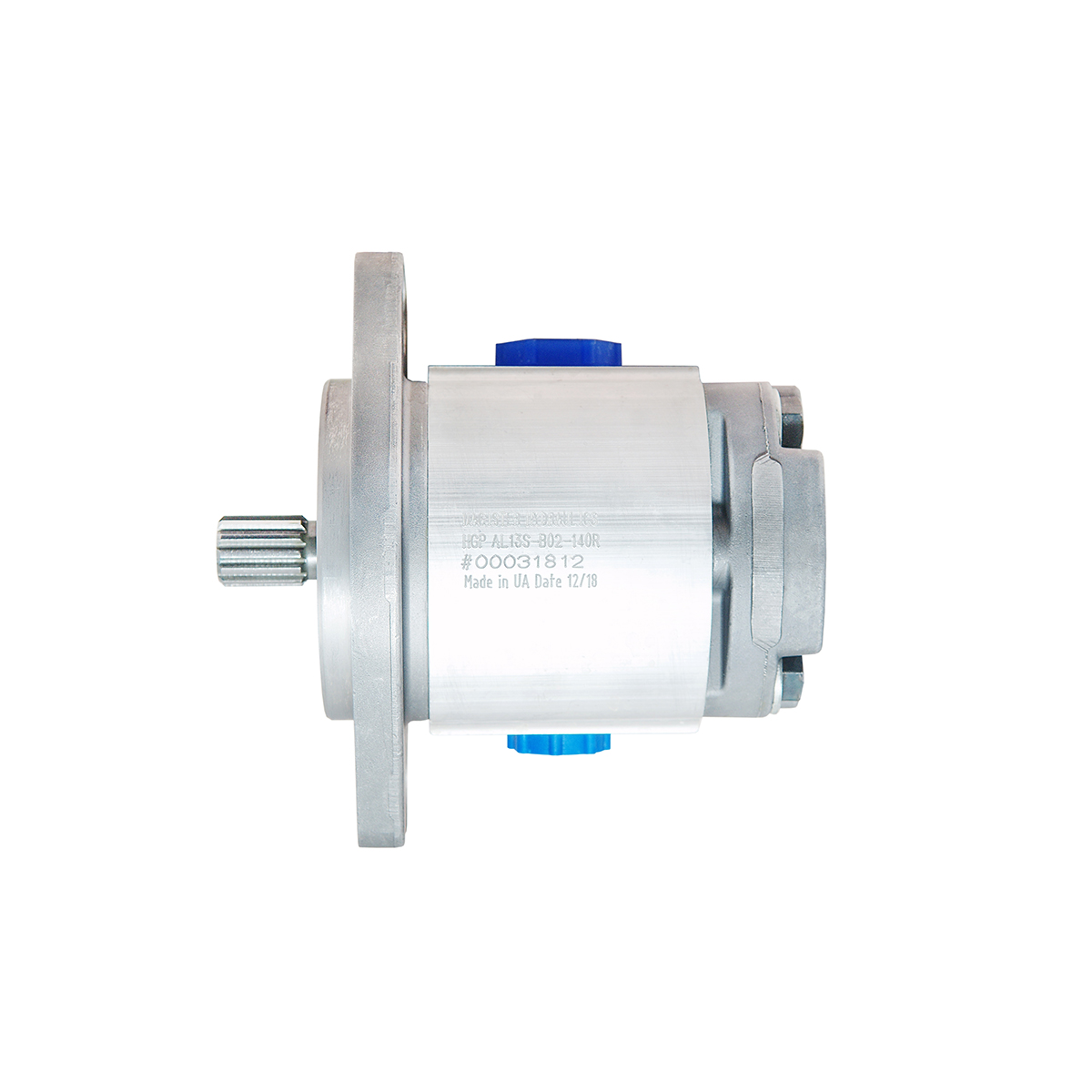 0.38 CID hydraulic gear pump, 9 tooth spline shaft counter-clockwise gear pump | Magister Hydraulics