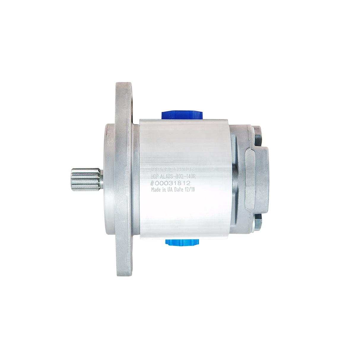 0.69 CID hydraulic gear pump, 9 tooth spline shaft clockwise gear pump | Magister Hydraulics