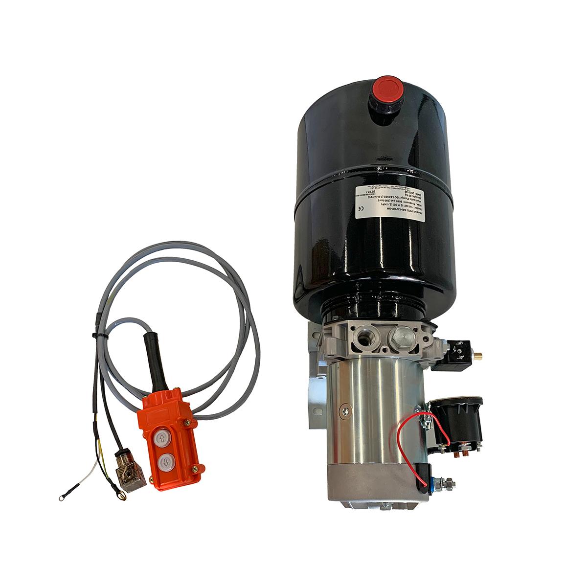 single acting 12 quarts hydraulic power unit 12V DC by Hydro-Pack