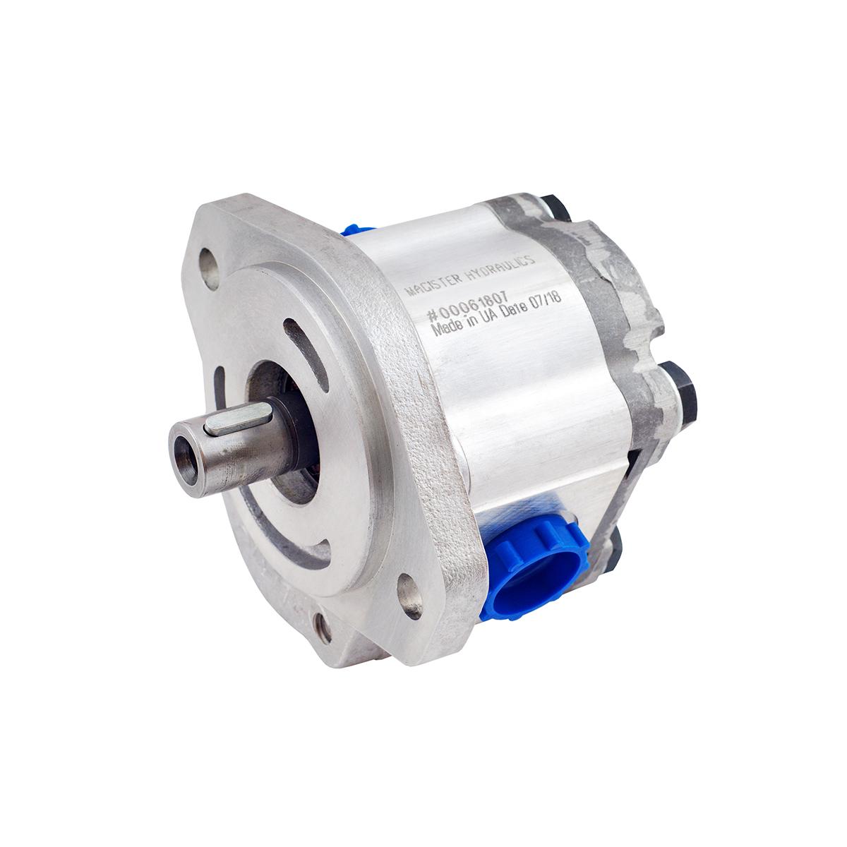 1.37 CID hydraulic gear pump, 3/4 keyed shaft clockwise gear pump | Magister Hydraulics