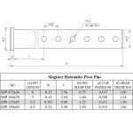 1.25 pin diameter x 8.5 long steel pivot pin for hydraulic cylinder