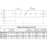 1 pin diameter x 7 long steel pivot pin for hydraulic cylinder