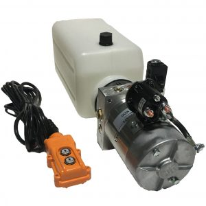 single acting 6 quarts hydraulic power unit 12V DC by MTE
