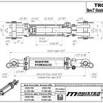 2 bore x 8 stroke hydraulic cylinder, tie rod double acting cylinder | Magister Hydraulics