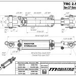 2.5 bore x 8 ASAE stroke hydraulic cylinder, tie rod double acting cylinder | Magister Hydraulics