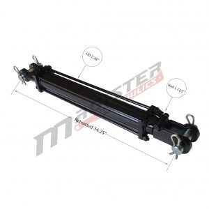 2 bore x 24 stroke hydraulic cylinder, tie rod double acting cylinder | Magister Hydraulics