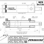 3.5 bore x 16 stroke hydraulic cylinder, welded pin eye double acting cylinder | Magister Hydraulics