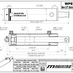 3.5 bore x 8 stroke hydraulic cylinder, welded pin eye double acting cylinder | Magister Hydraulics