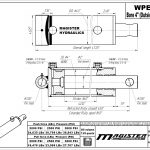4 bore x 36 stroke hydraulic cylinder, welded pin eye double acting cylinder | Magister Hydraulics