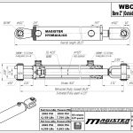 2 bore x 16 stroke hydraulic cylinder, ag clevis double acting cylinder   Magister Hydraulics