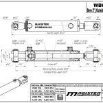 2 bore x 8 stroke hydraulic cylinder, ag clevis double acting cylinder | Magister Hydraulics