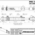 2 bore x 8 ASAE stroke hydraulic cylinder, ag clevis double acting cylinder | Magister Hydraulics