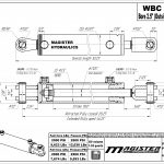 2.5 bore x 18 stroke hydraulic cylinder, ag clevis double acting cylinder | Magister Hydraulics