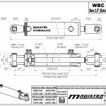 2.5 bore x 24 stroke hydraulic cylinder, ag clevis double acting cylinder | Magister Hydraulics